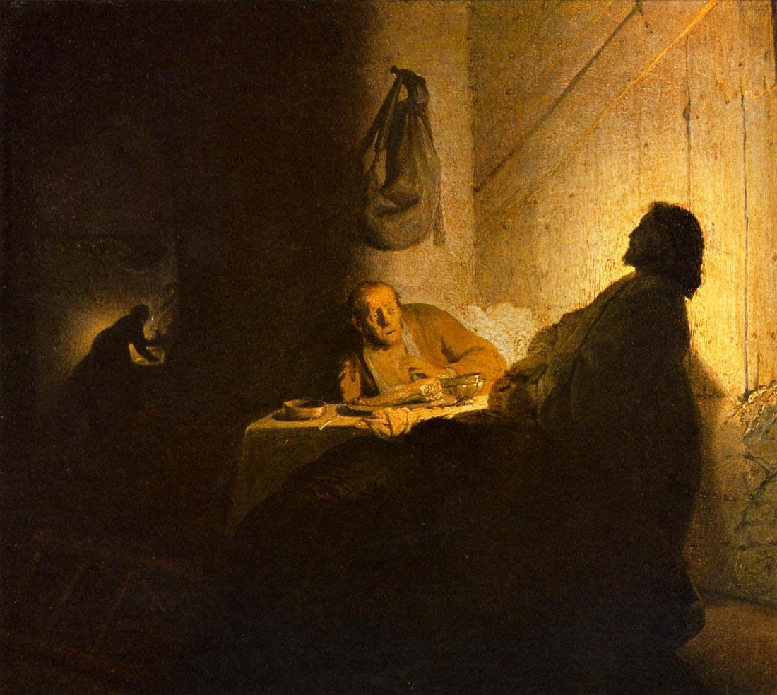 Christus in Emmaus [2] - Rembrandt